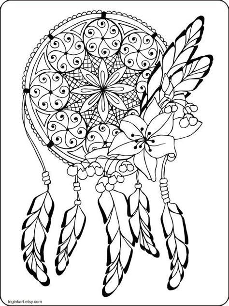 images  dreamcatcher coloring pages