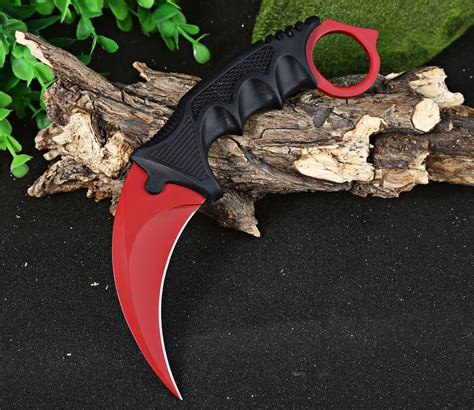 Karambit Survival 2 dropship cs go counter strike claw knife with sheath tactical survival cing tool to sell