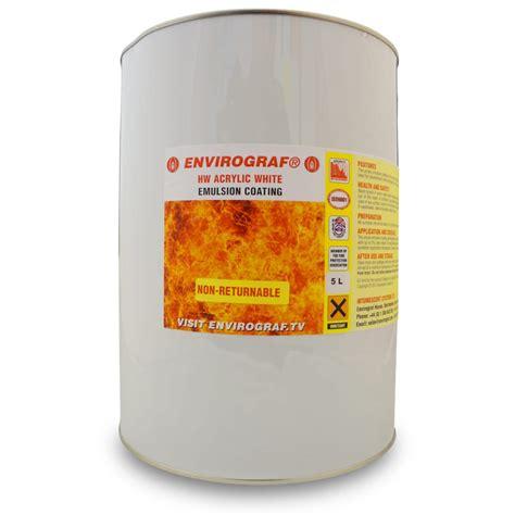 acrylic paint emulsion envirograf hw acrylic premier white top coat 1l
