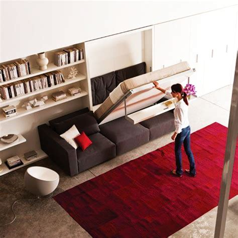 Living Room Wall Art by 15 Cool Amp Inventive Murphy Beds For Decorating Smaller