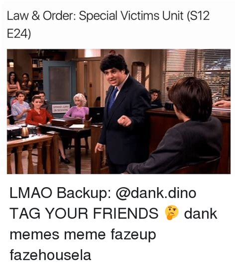 Law And Order Meme - law order special victims unit s12 e24 lmao backup tag