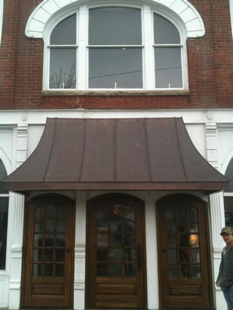 copper window awning copper awning storefront pinterest