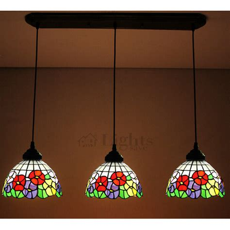 stained glass pendant light beautiful floral stained glass downlight multi