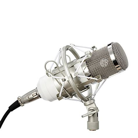 Termurah Microphone Holder Shockproof Dengan Pop Filter co z pro bm800 white condenser microphone package studio sound recording mic with arm stand