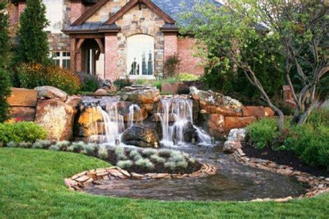 home waterfall garden design ideas beautiful homes design