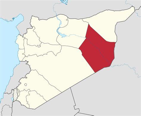 deir ez zor map deir ez zor governorate