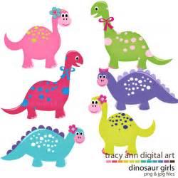 Cute dinosaur clip art girl dinosaurs by tracyanndigitalart