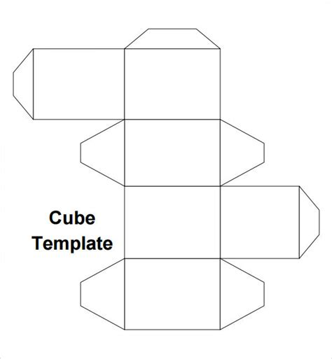 cube template printable cube template pictures to pin on