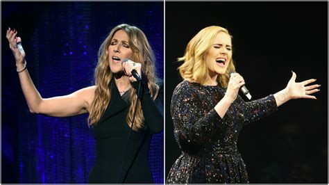 adele new duet celine dion sings invitation for duet with adele