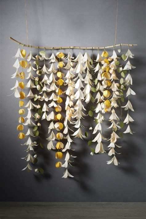 Paper Flowers Floral Garland Decor Home Wall Decor How Do I Thee Bliss Wedding Backdrops