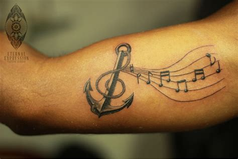music symbol tattoo eternal expression tattoos best artist in bangalore