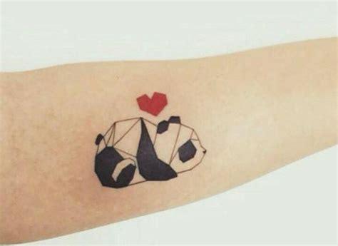 tattoo panda geometric 24 small panda bear tattoo ideas for girls styleoholic
