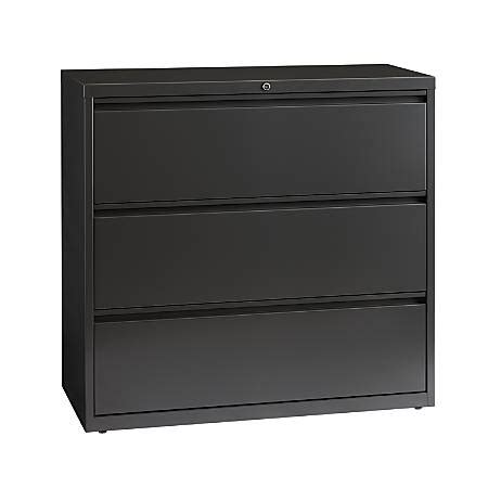 workpro lateral file cabinet workpro 42 w 3 drawer steel lateral file cabinet charcoal