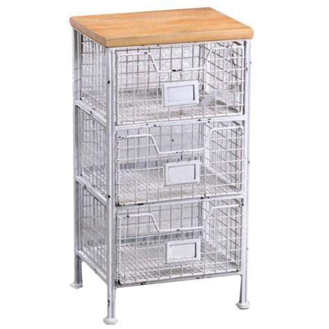 mobiletti con cassetti cassettiera da cucina metallo e legno