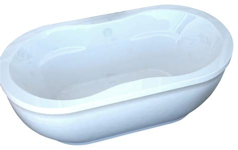 venzi velia 34x71 oval freestanding air jetted bathtub