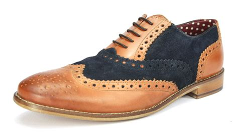 Brogue Shoes brogues mens leather lace up wingtip formal gatsby