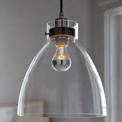 Kitchen Glass Pendant Lighting Minimalist Glass Pendant With An Industrial Design