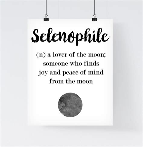 decor meaning wall art a4 print selenophile a4 print moon lover a unique product by paperblooming on dawanda