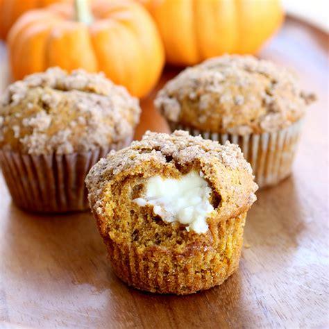 sip and bite pumpkin cream cheese muffins