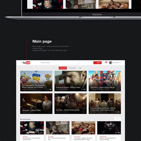 youtube new layout 2015 new ux design concept of youtube 2015 by lucas nonato