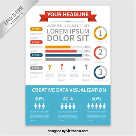 infographic brochure template infographic flyer template vector free