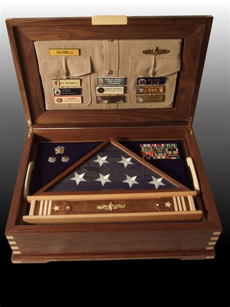 retirement shadow box  case  charles maxwell