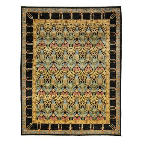 9 X 11 Area Rugs Darya Rugs Suzani Black 9 Ft 1 In X 11 Ft 6 In Indoor Area Rug M1780 174 The Home Depot