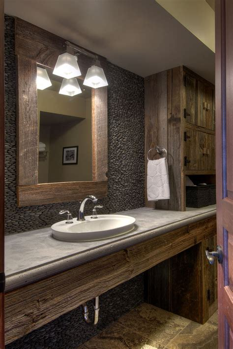 Rustic Bathroom Lighting Ideas 51 Insanely Beautiful Rustic Barn Bathrooms