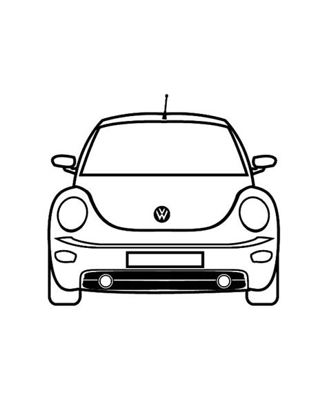 beetle car coloring page volkswagen new beetle car coloring pages volkswagen new