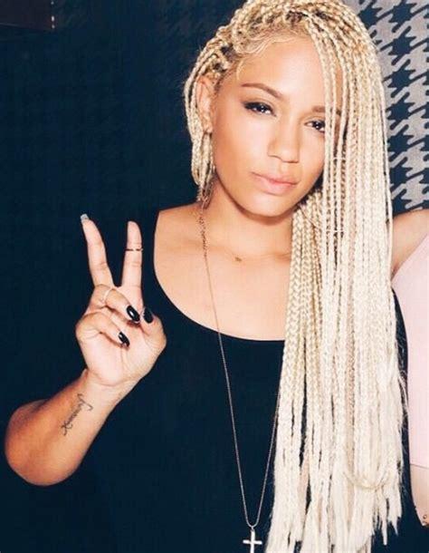 blonde and black box braids braids hair hair more hair pinterest box braids