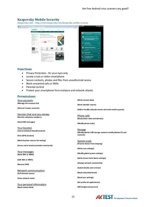 android malware scanner avtest kasım 2011 bedava android antivir 252 s araştırması