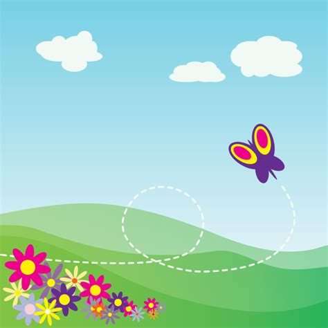 Amazing Cool Items For Christmas #9: Butterfly-spring-scene.png