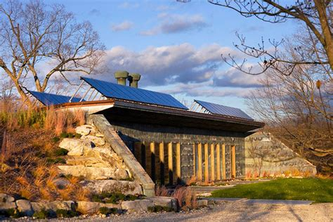 Micro Cabin Plans Solar Powered Carbon Neutral Earth Bermed House Is Made