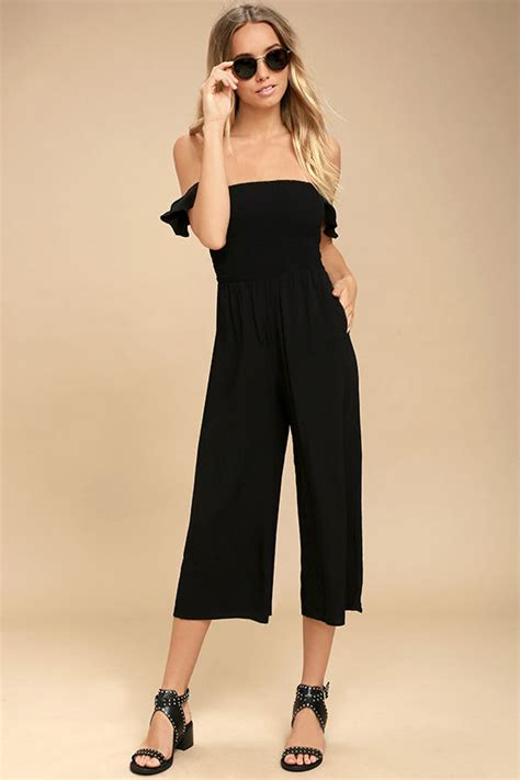 Midi Jumpsuit black jumpsuit midi jumpsuit the shoulder jumpsuit 54 00