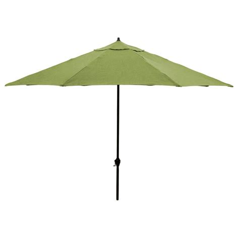 Patio Umbrella Sunbrella Hton Bay 11 Ft Aluminum Patio Umbrella In Sunbrella Spectrum Cilantro 9111 01502100 The