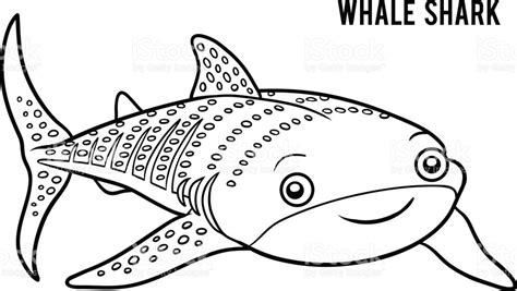 coloring page of whale shark coloring book whale shark stock vector art more images