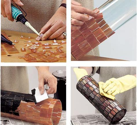 come decorare un vaso di vetro decorare vasetti di vetro con tessere mosaico