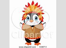 Clipart of a Cute Thanksgiving Pilgrim Penguin with ... Free Digital Clip Art Maker