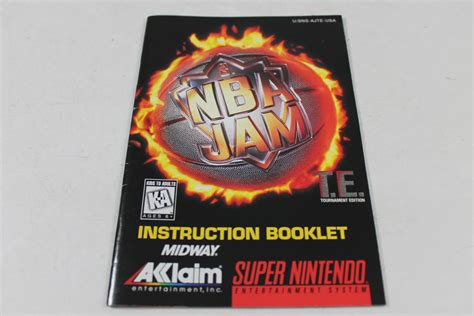 Mba Jam 3ds by Manual Nba Jam Tournament Edition Snes Nintendo