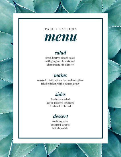 canva menu customize 257 wedding menu templates online canva