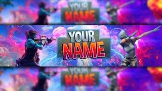 100 Free Fortnite Channel Art Banner Template Photoshop Fortnite Banner Template No Text