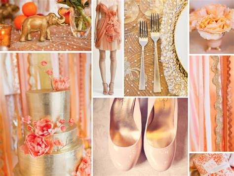 peach and gold gold and peach gold wedding colors peach and gold weddings