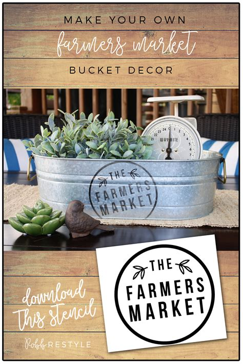 diy farmers market bucket decor robb restyle