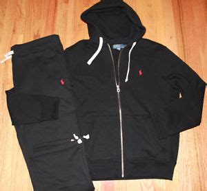 nwt polo ralph lauren mens classic fleece hooded track