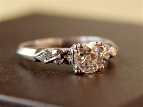 simple vintage engagement rings performance with