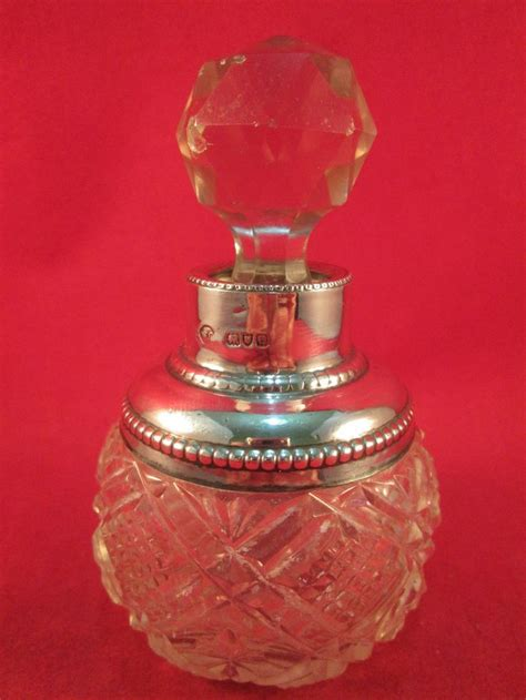 perfume bottle with holly antique solid silver perfume bottle 1899 ebay