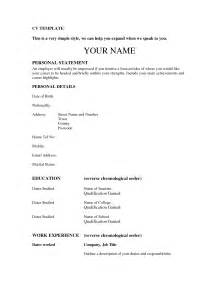 Sle Copies Of Resumes by Sle Copy Of Cv Sle Resume Format