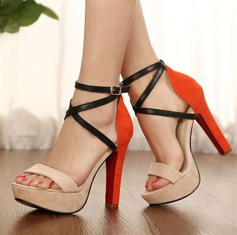 Boys Need Some Heels To Go With Those by 1000 Ideas About Orange High Heels On High