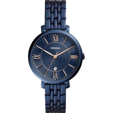 fossil 107 blue fossil jacqueline blue stainless steel es4094