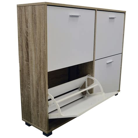 Large Shoe Storage Cabinet Bigfoot Xl Large 24 Pair Shoe Storage Cabinet Light Oak White Watson S On The Web